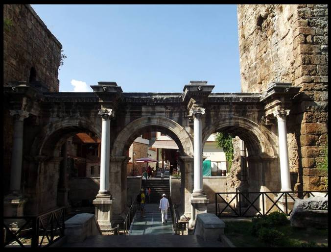 Hadrian's Gate, the entrance to Kaleci.