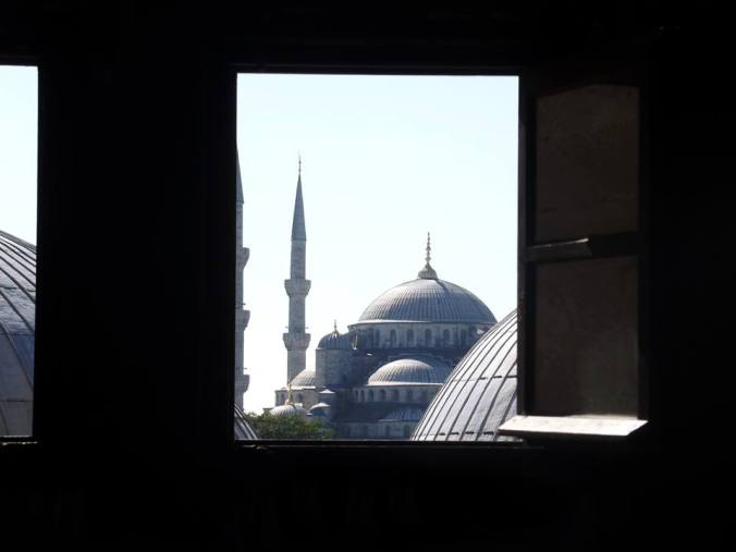 View of the Blue Mosque from Hagia Sophia.